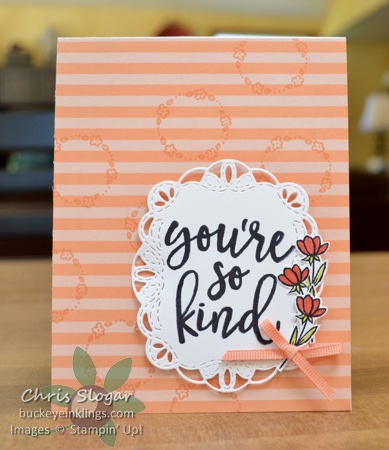 Notes of kindness card kit buckeye inklingsbuckeye inklings heres a fun alternative that is also very easy i used one of the greetings from my kit on a stitched label framelit shape and i added a few stamps from m4hsunfo