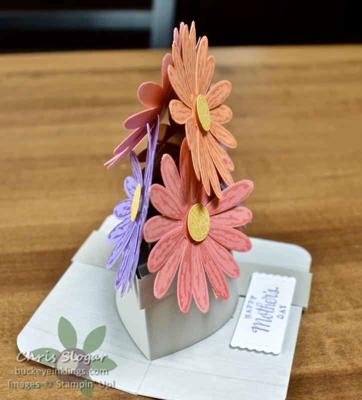 The flowers are held up by two 1/2\u2033 strips of Window Sheet. & Pop-Up Flower Pot Card - Buckeye InklingsBuckeye Inklings